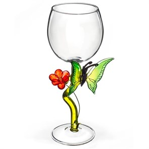 """Винный бокал из стекла ручной работы """"Нежность"""""""