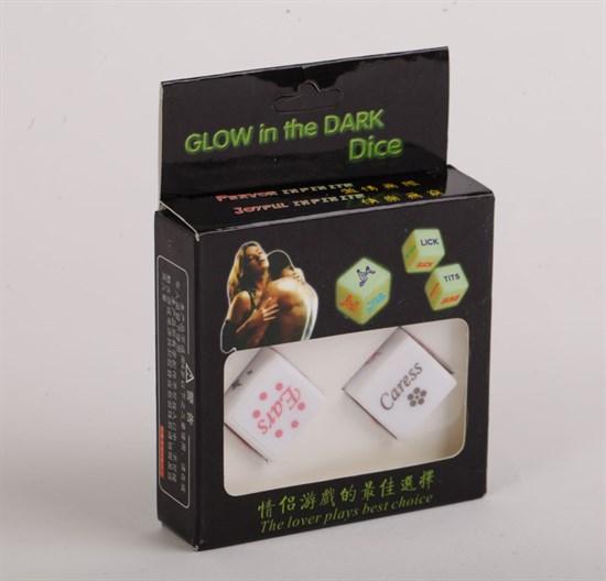 Светящиеся в темноте игровые кости для любовных игр - фото 169905
