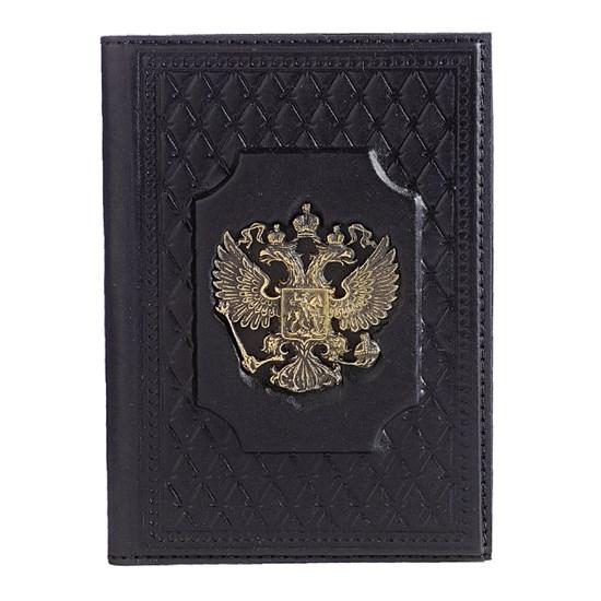 Обложка для паспорта «Федерация» с латунным орлом
