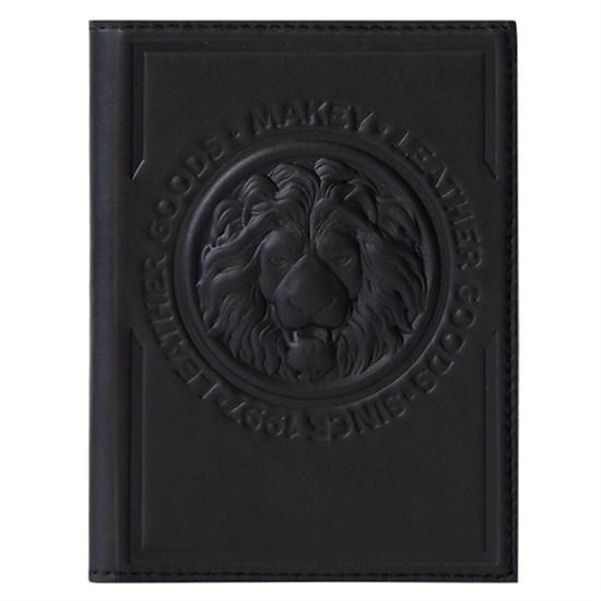 Кожаная обложка для паспорта Royal, цвет черный