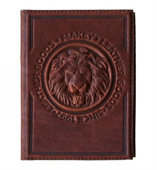 Кожаная обложка для паспорта Royal, цвет коньяк