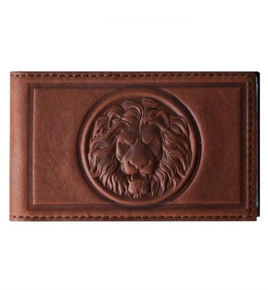Визитница карманная Royal из кожи, цвет коньяк