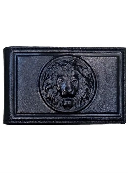 Визитница карманная Royal из кожи, цвет черный
