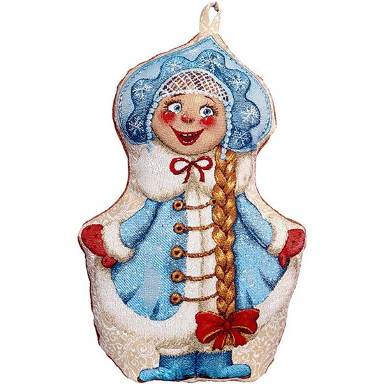 "Гобеленовая подушка-игрушка ""Снегурочка"", 40х35 см"
