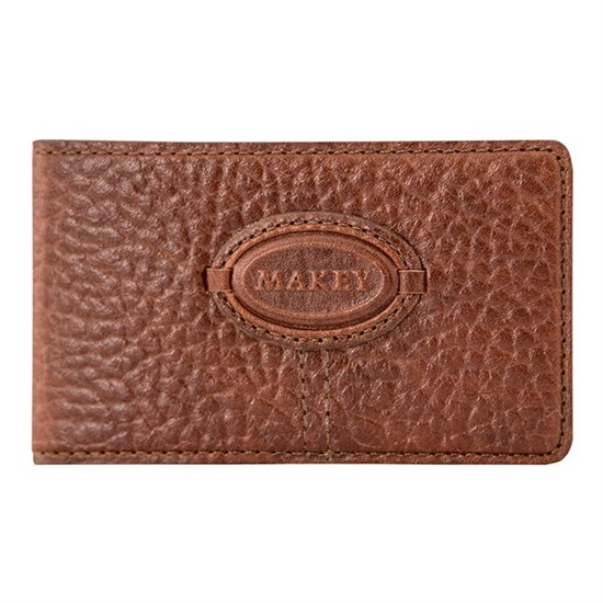 Кожаная карманная визитница Classic, цвет тоскана