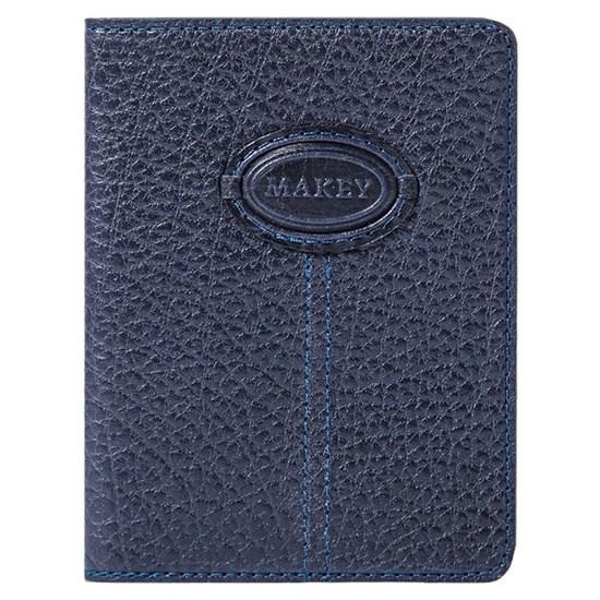 Кожаная обложка для паспорта Classic, цвет синий