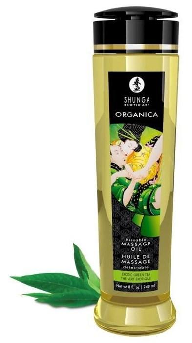 Массажное масло Shunga Organica с ароматом зеленого чая, 240 мл