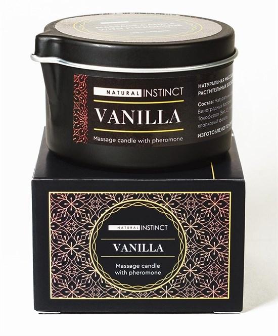Массажная свеча с феромонами Natural Instinct VANILLA, 70 мл