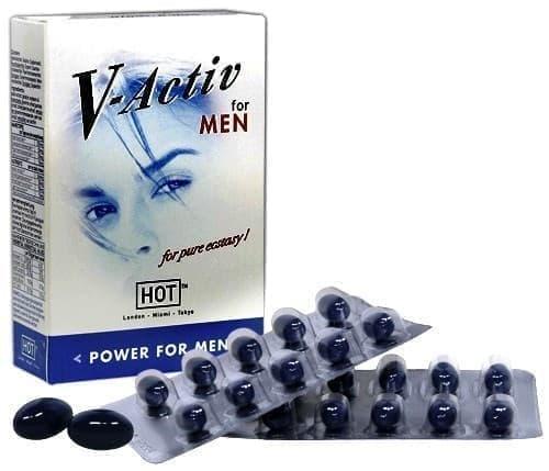 """Мужские капсулы для потенции """"V-Active Caps"""", 20шт - фото 35281"""
