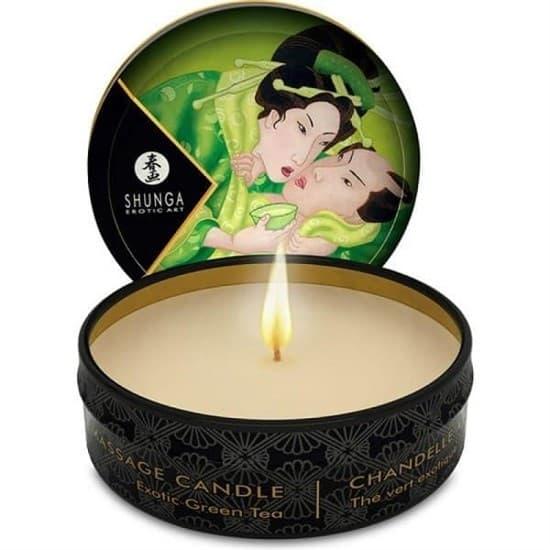 Массажная ароматическая свеча Shunga Exotic Green Tea, 30 гр
