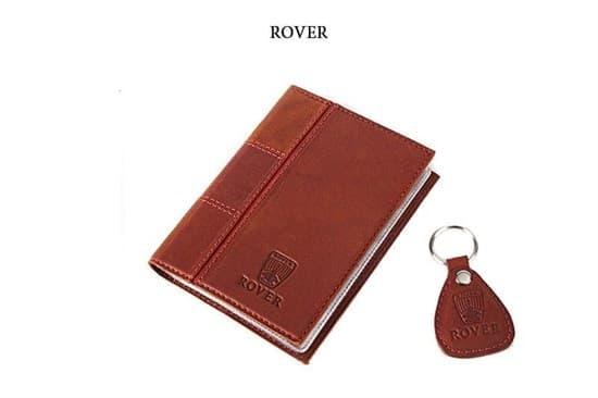 """Кожаная обложка для водительского удостоверения с брелком """"ROVER"""""""