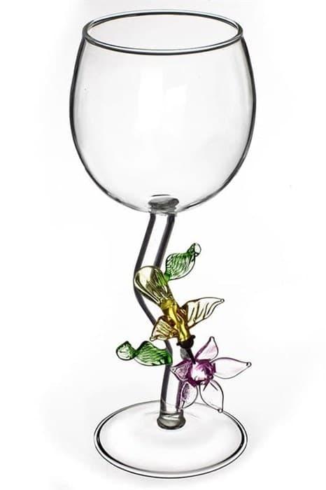 """Винный бокал из стекла ручной работы """"Медовая Калибри"""""""