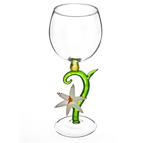 """Винный бокал из стекла ручной работы """"Утренний Цветок"""""""