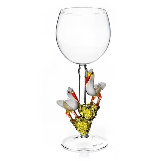 """Винный бокал из стекла ручной работы """"Идиллия"""""""