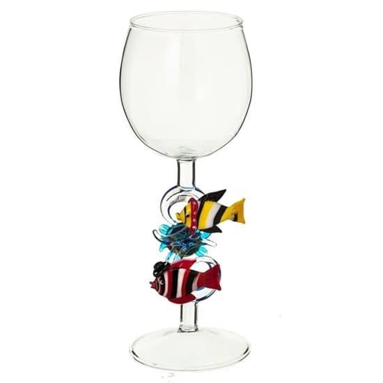 """Винный бокал из стекла ручной работы """"Бурлящая жизнь"""""""