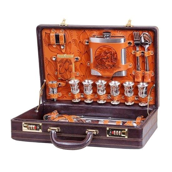 """Набор туриста """"Граф"""" в кожаном чемодане - фото 43282"""