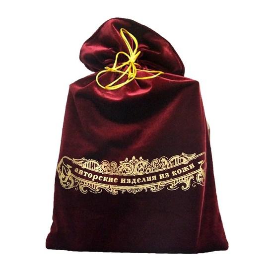 Мешок подарочный бархатный 30х46, цвет бордовый