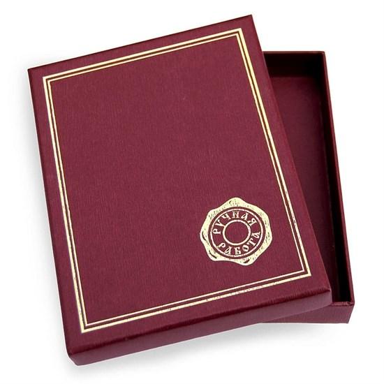Подарочная упаковка (коробочка) 14х12, цвет бордовый