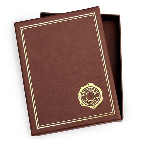 Подарочная упаковка (коробочка) 14х12, цвет коричневый