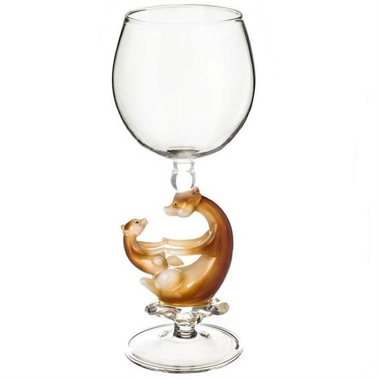 """Винный бокал из стекла ручной работы """"Умка"""""""