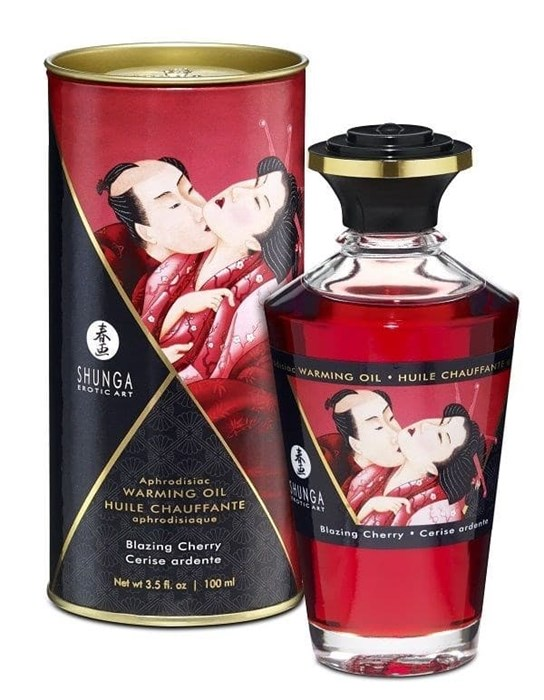 "Массажное масло ""Интимные поцелуи"" Shunga Aphrodisiac oil Cherry (вишня), 100 мл"