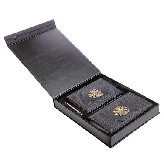 """Подарочный набор """"Федерация"""" из натуральной кожи в комплекте с ручкой Parker"""