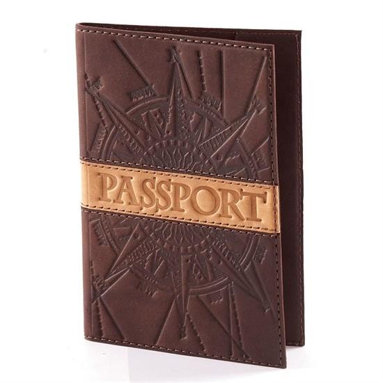 """Кожаная обложка для паспорта """"Воин"""""""