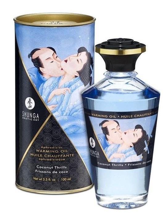"""Возбуждающее масло Shunga """"Интимные поцелуи"""" с ароматом кокоса, 100 мл"""