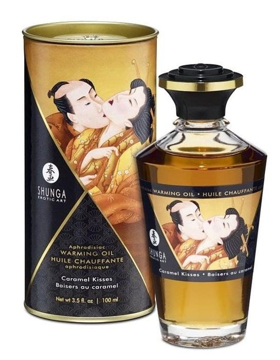 """Возбуждающее масло Shunga """"Интимные поцелуи"""" с ароматом Карамели, 100 мл"""