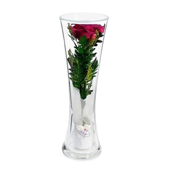 """Цветы в стекле """"Звезда"""" композиция из бордовой розы (арт. CuHRd)"""