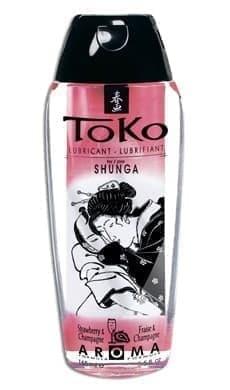 Съедобный лубрикант Shunga Toko Strawberry/Champagne с ароматом клубники и шампанского, 165 мл