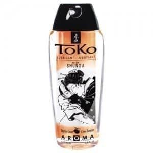 Съедобный лубрикант Shunga Toko Tangerine Cream с ароматом мандарина, 165 мл