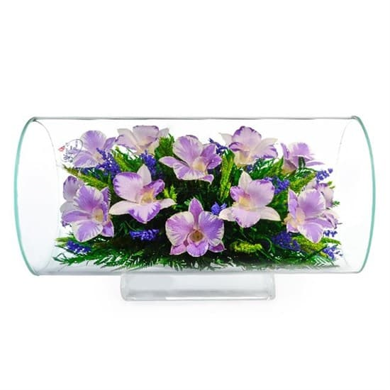 """Цветы в стекле """"Маркиза"""" композиция из орхидей (арт. TJO)"""