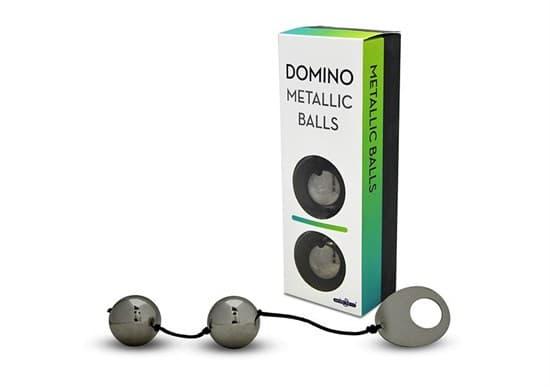 Хромированные вагинальные шарики с петелькой для извлечения - фото 92882