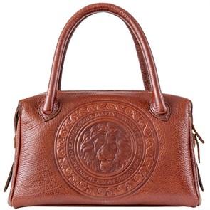 Кожаная женская сумка Royal Sacvoyage с художественной вставкой, цвет тоскана