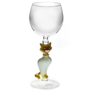 """Винный бокал для вина ручной работы """"Кошка"""""""