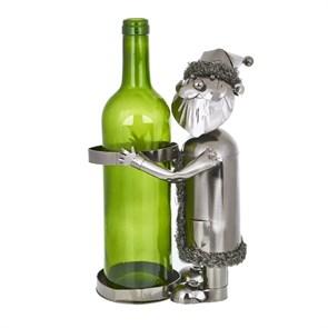 """Держатель для бутылок """"Мужичок в шубе"""" (с бутылкой)"""
