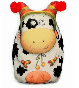 "Гобеленовая подушка-игрушка ""Корова Милка"""