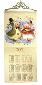 """Гобеленовый календарь """"Кадриль"""" на 2021 год, 30х70 см"""