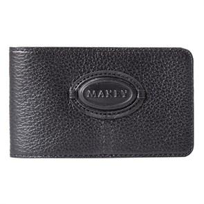 Кожаная карманная визитница Classic, цвет черный