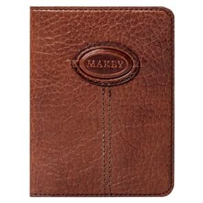 Кожаная обложка для паспорта Classic, цвет тоскана