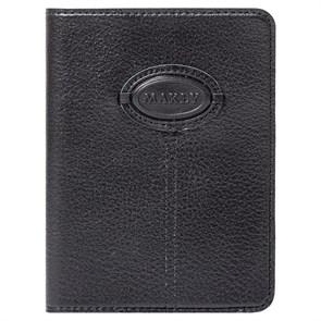 Кожаная обложка для паспорта Classic, цвет черный