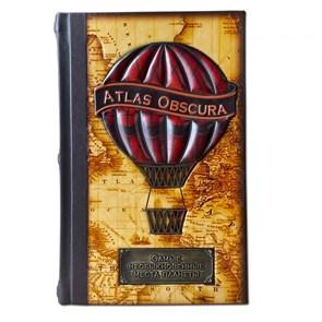 """Книга в коже """"Самые необыкновенные места планеты. Atlas Obscura"""""""