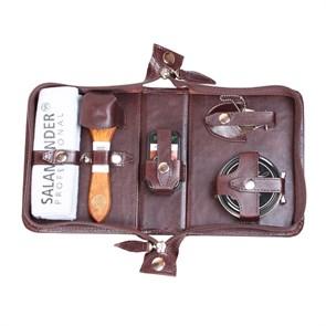 Несессер дорожный mini для ухода за обувью в сумке из натуральной кожи
