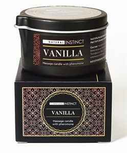 Массажная свеча с феромонами Natural Instinct VANILLA, 70 мл