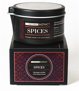 Массажная свеча с феромонами Natural Instinct SPICES, 70 мл