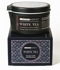 Массажная свеча с феромонами Natural Instinct WHITE TEA, 70 мл