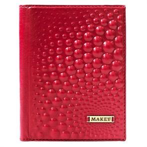 Обложка для автодокументов Bubbles из натуральной кожи, цвет красный