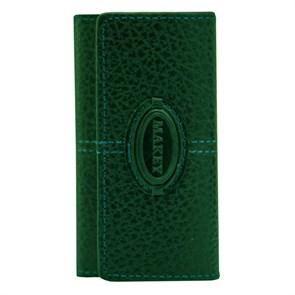 Кожаный футляр для ключей Classic, цвет зеленый