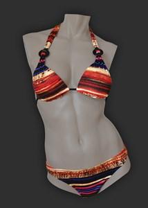 Оригинальный купальник-бикини с декором